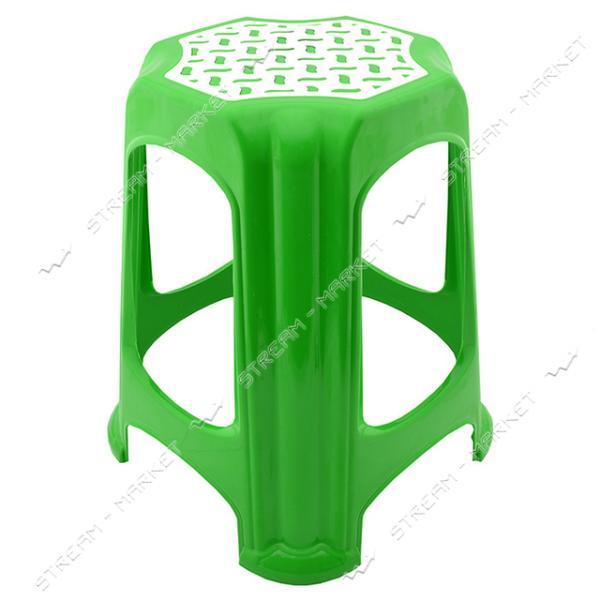 Табурет пластик зеленый Горизонт
