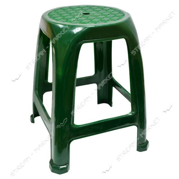 Табурет пластик темно-зеленый