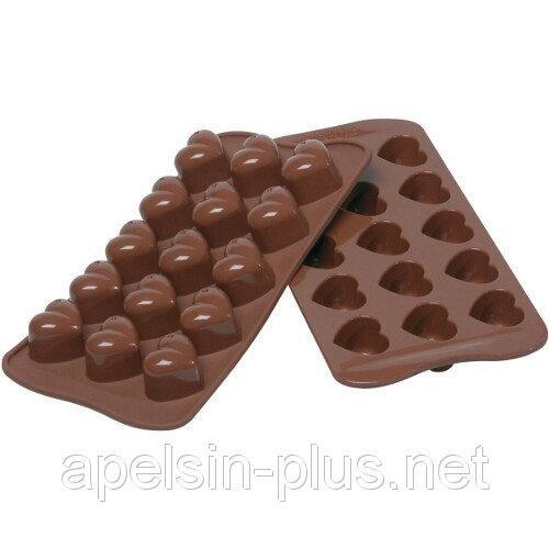 """Силиконовая форма для шоколада """"Сердечки"""" из 15"""""""