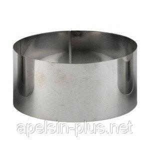 Фото Кондитерские кольца и раздвижные формы для тортов Кондитерское кольцо 14 см высота 8 см нержавеющая сталь