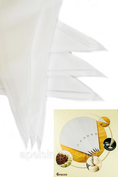 Фото Мешки и адаптеры кондитерские Кондитерский силиконовый мешок набор из 6 штук