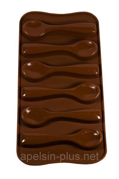"""Форма для шоколада и карамели """"Ложечки"""" на 6 ячеек"""