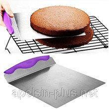 Лопатка-шпатель металлическая для переноски торта