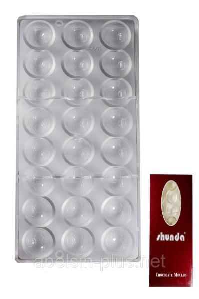 Поликарбонатная форма для шоколада Футбольный мяч 24 ячейки