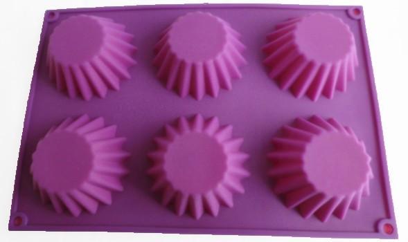 Фото Силиконовые формы для выпечки, Формы на планшете Силиконовая форма для выпечки Кексы широкие на 6 ячеек