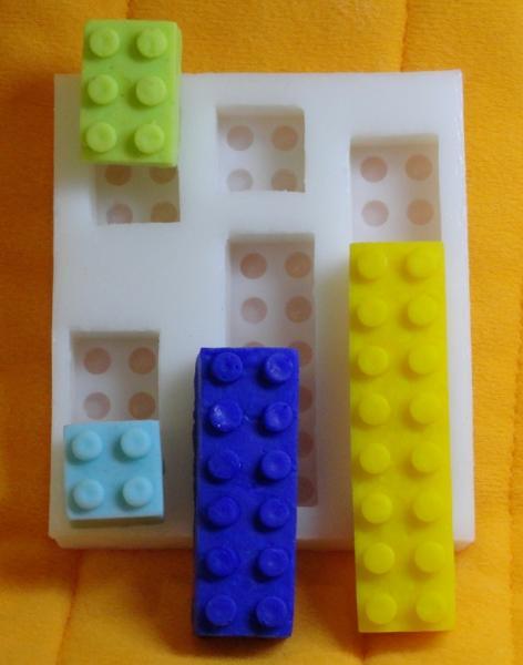"""Молд силиконовый """"Лего набор №2"""" 8,0 см 7,2 см"""