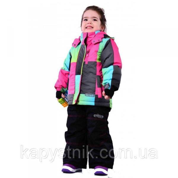 """Зимний лыжный термокомбинезон """"Blizz"""" Ski Tour девочке р.98-158 ТМ Pidilidi-Bugga (Чехия)"""