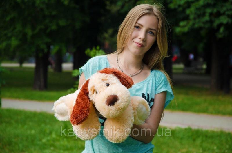 Мягкая игрушка Собака Соня размер 40см ТМ My Best Friend (Украина) персиковый