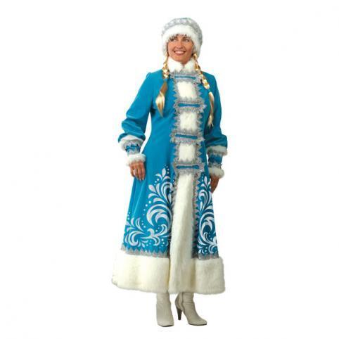 Карнавальный костюм Снегурочка взрослый аппликация