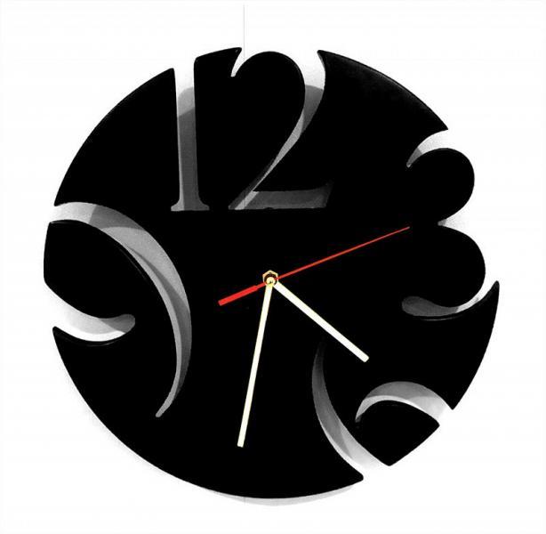 Дизайнерские настенные часы из дерева Loft черный