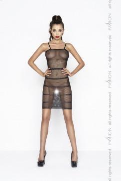 Прозрачное сексуальное платье черного цвета, BS033, размер OS