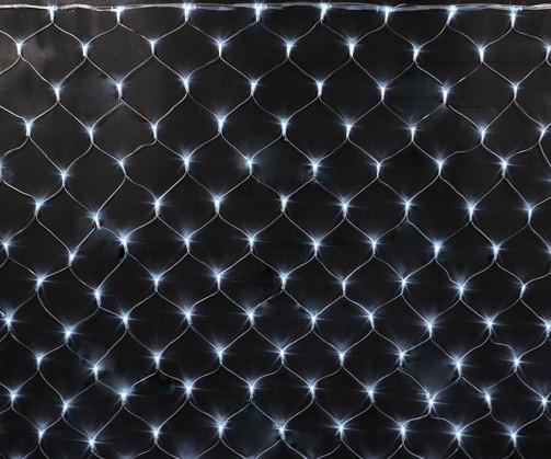 Гирлянда электрическая сетка LED 160 (1,5*1,5м) Белый