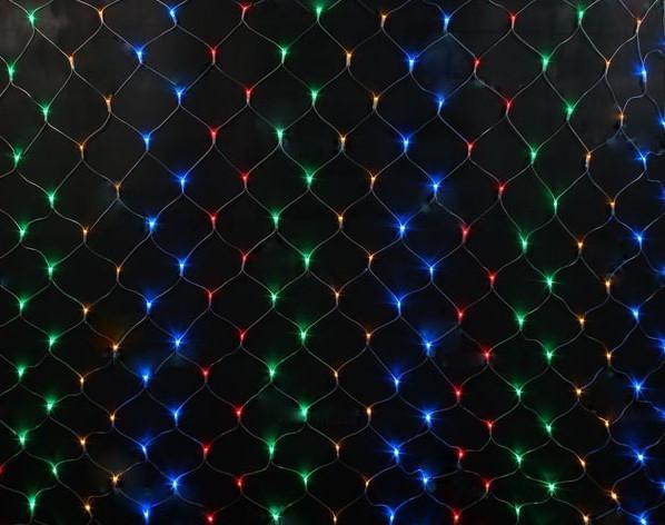 Гирлянда электрическая сетка LED 200 (1,5*1,5м) Многоцвет