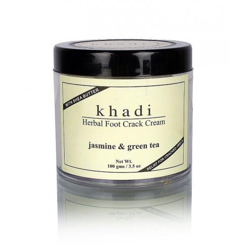 """Травяной крем для ног против трещинок Khadi """"Жасмин + Зеленый чай"""" 50г."""