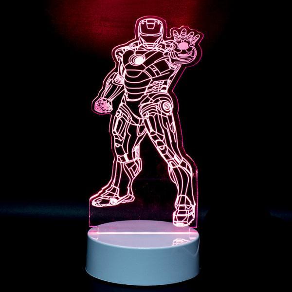 3D светильник Маска железного человека