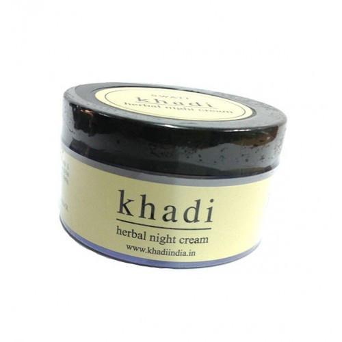Питательный ночной травяной крем для лица Khadi 50г.