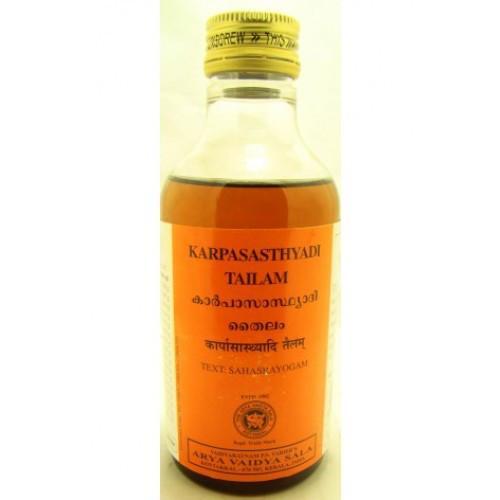 Массажное масло Карпасастьяди Тайлам (Karpasasthyadi Tailam) 200мл