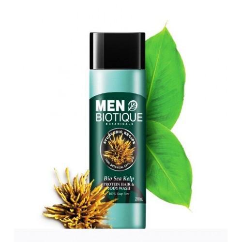 Гель для мытья волос и тела с протеинами морских водорослей Biotique
