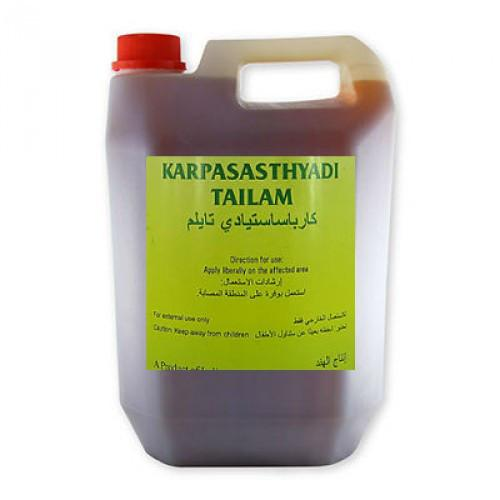 Универсальное массажное масло Карпасастьяди Тайлам (Karpasasthyadi Tailam) 5 литр