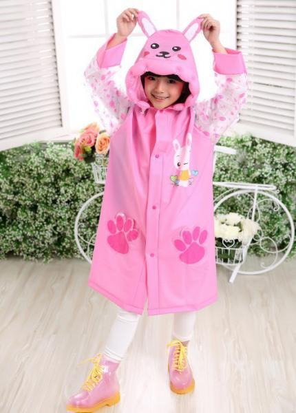 Детский дизайнерский дождевик Little Sweet Розовый XXL
