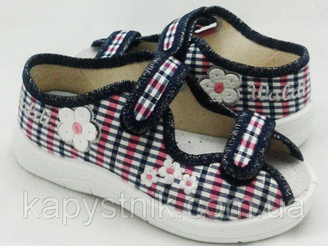 Тапочки летние, текстильные для девочки р.24-30 ТМ Waldi Ира 130-582