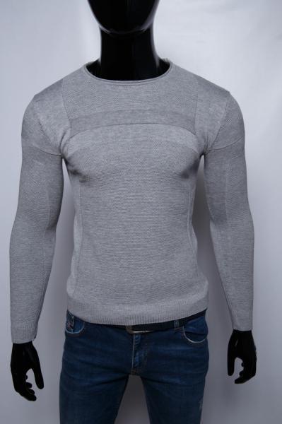 Свитер мужской Figo 10106 серый