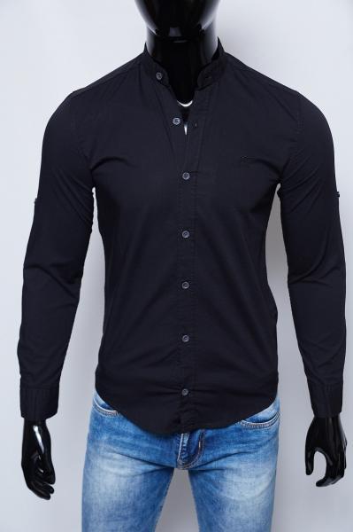 Рубашка мужская летняя Figo 17006 черная