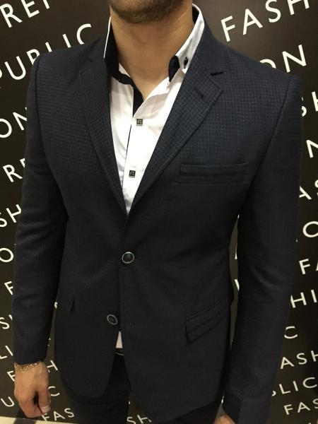 Пиджак мужской приталеный FR 6203 синий