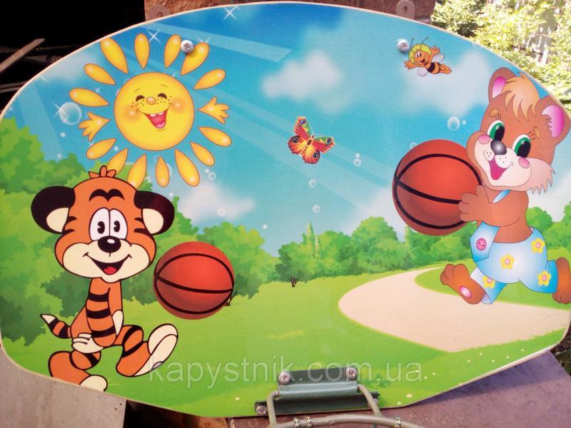 Баскетбольное кольцо детское крошка Енот, для обычного мяча