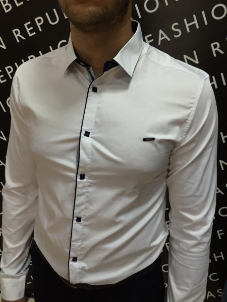 Рубашка мужская FR 6177 белая