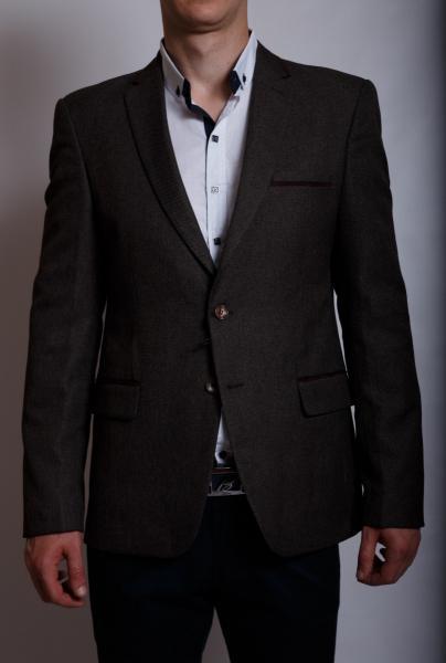 Пиджак мужской приталенный Weaver 6214 коричневый