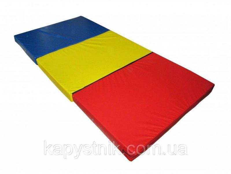 Мат складной 200-100-10 см с 3-х частей ТМ Тia-sport Тиа-Спорт: sm-0136 (Украина)