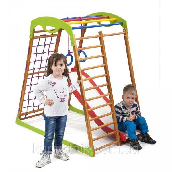 Детский спортивный комплекс для дома ТМ SportBaby: BabyWood Plus 1 (Украина)