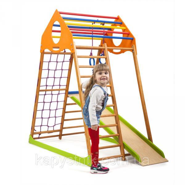 Детский спортивный комплекс для дома ТМ SportBaby: KindWood (Украина)