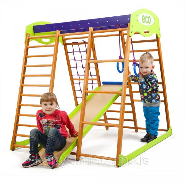 Детский спортивный комплекс для квартиры ТМ SportBaby: «Карамелька мини» (Украина)
