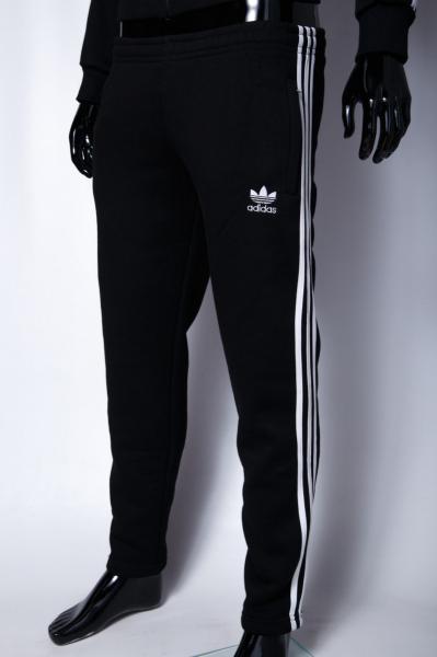 Спортивные штаны утепленные мужские Ads 9918 черные реплика