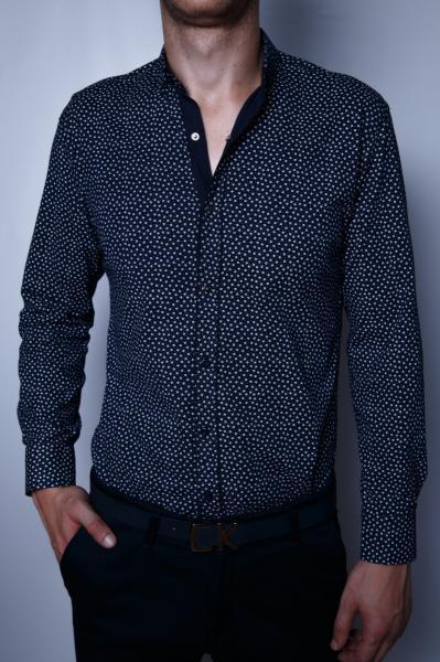 Рубашка мужская FR 175828 PS синяя