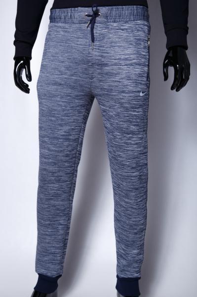 Спортивные штаны утепленные мужские NK 9915 синий меланж реплика