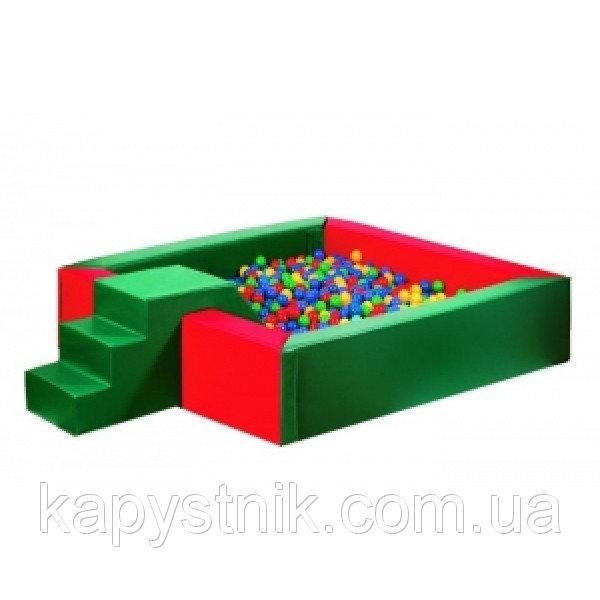 Сухой бассейн с горкой 150-150-40 см ТМ Тia-sport Тиа-Спорт: sm-0201 (Украина)