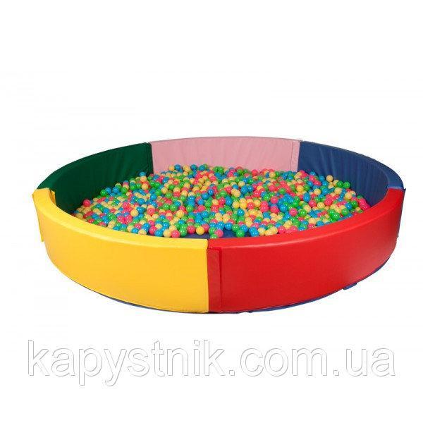 Сухой бассейн круглый 200*40 см ТМ Тia-sport Тиа-Спорт: sm-0200 (Украина)