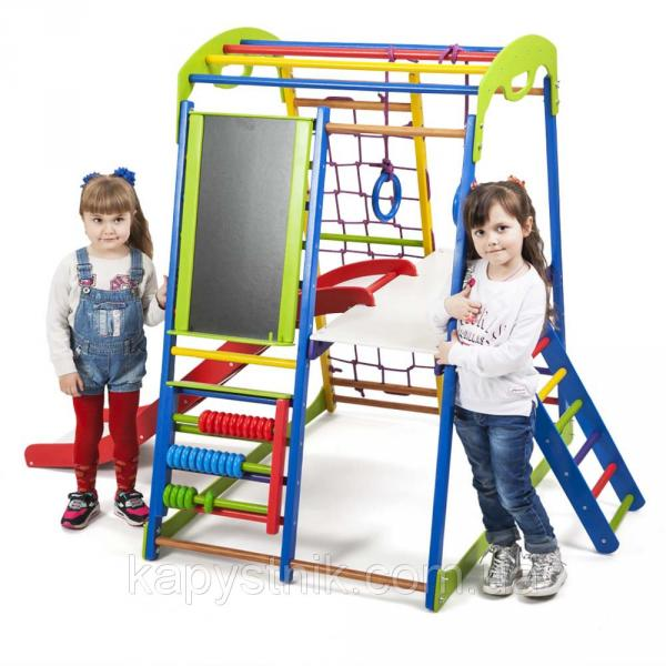 Детский спортивный комплекс для дома ТМ SportBaby: SportWood  Plus 3 (Украина)