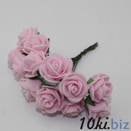 Розочки латексные  2,3 - 2,5 см.  Светло - Розового  цвета.  упаковка  12  цветочков . Искусственные цветы и растения, композиции, топиарии в Украине