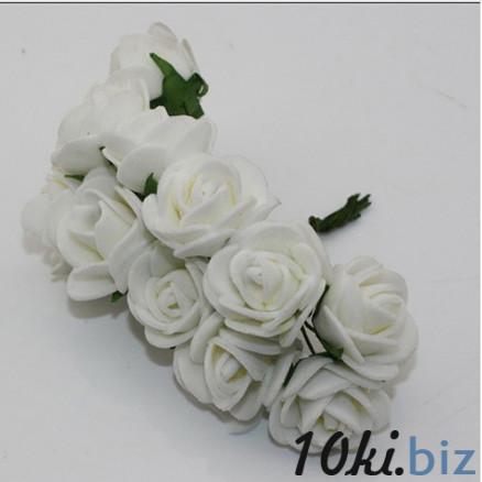Розочки латексные  2,3 - 2,5 см.  Белого  цвета.  упаковка  12  цветочков . Искусственные цветы и растения, композиции, топиарии в Украине