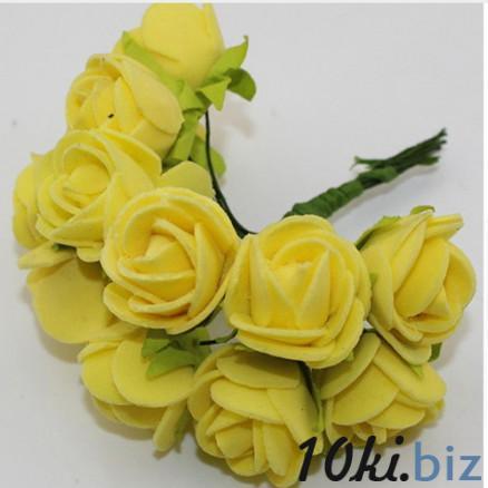Розочки латексные  2,3 - 2,5 см.  Жёлтого  цвета.  упаковка  12  цветочков . купить в Чернигове - Искусственные цветы и растения, композиции, топиарии