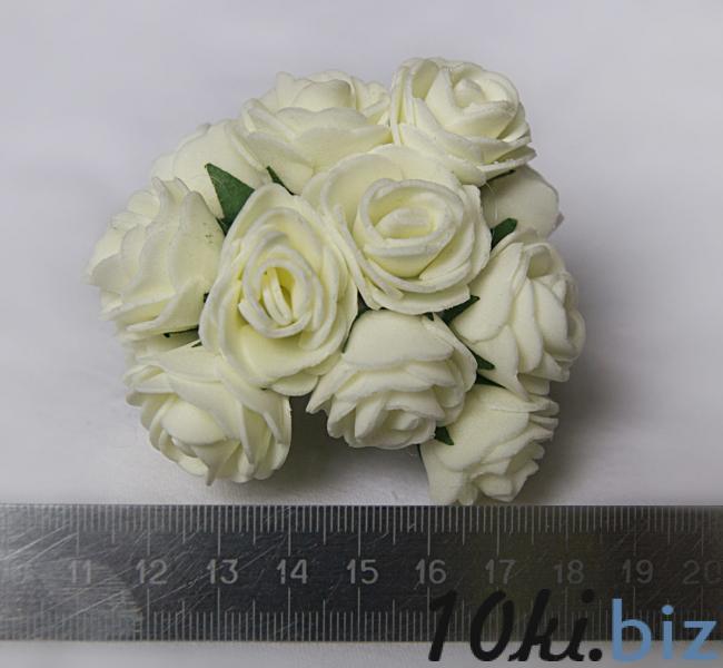 Розочки латексные  2,3 - 2,5 см.  Кремового цвета.  упаковка  12  цветочков . купить в Чернигове - Искусственные цветы и растения, композиции, топиарии