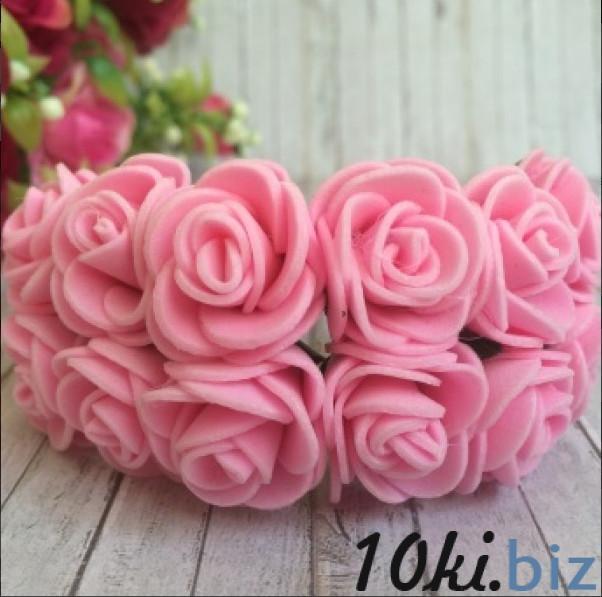 Розочки латексные  2,3 - 2,5 см.  Розового  цвета.  упаковка  12  цветочков . Искусственные цветы и растения, композиции, топиарии в Украине