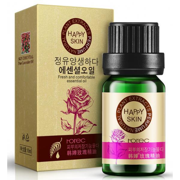 Розовое эфирное масло Rorec для ухода за кожей. 10 мл