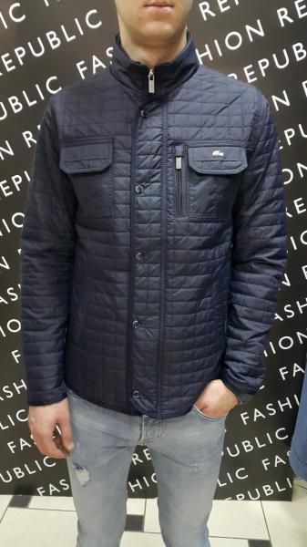 Куртка мужская демисезонная Lacoste 173856 синяя реплика