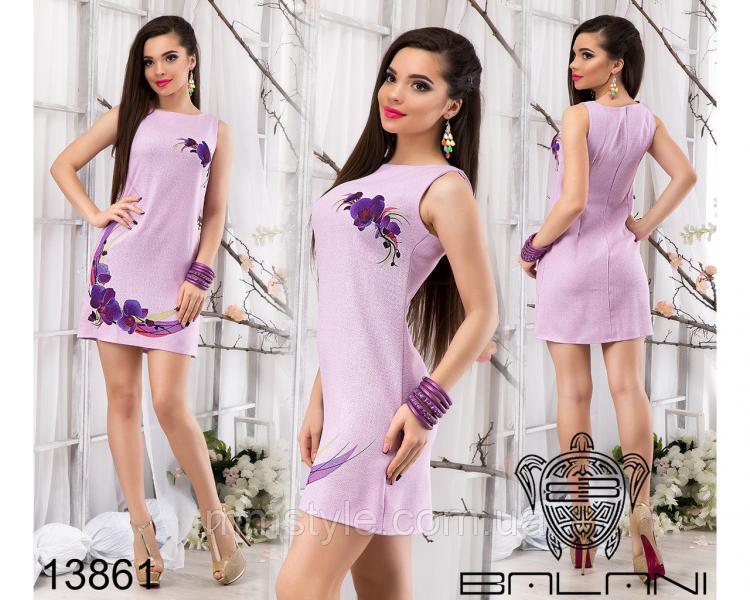 Летнее  платье  из  льна  -  13861