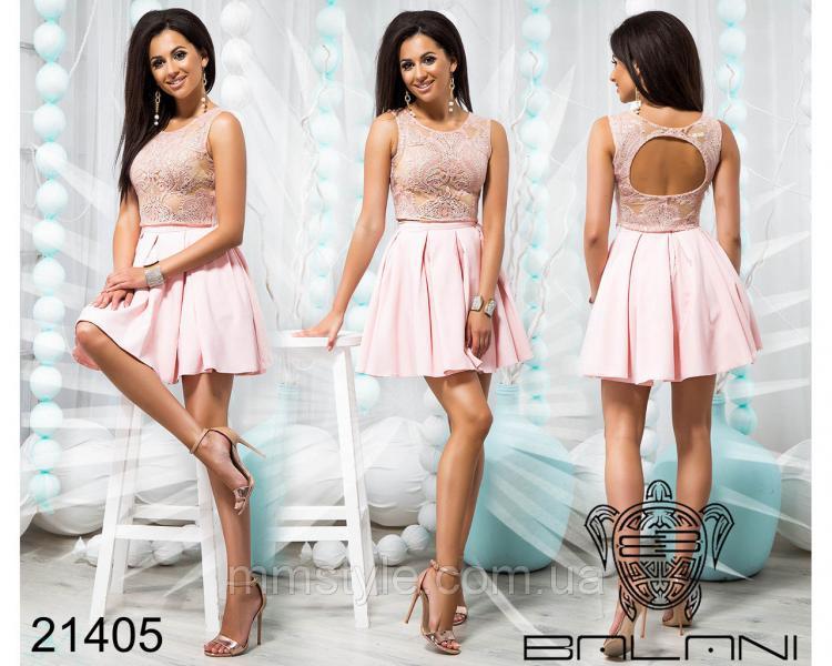 Стильный юбочный костюм - 21405